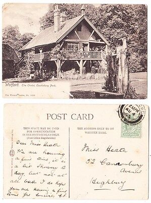 Early Postcard,Hertfordshire, Watford Cassiobury Park,The Chalet, Nice View,1905