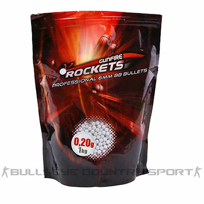 Gunfire Rockets 0.2g 1kg Bag 6mm Bb Pellets Airsoft Ammo Polished
