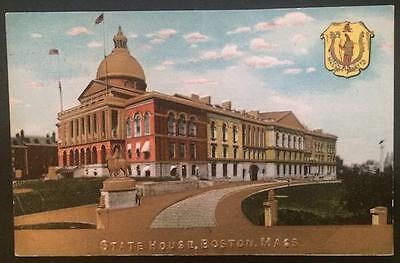 State House, Boston, Mass. Embossed Post Card