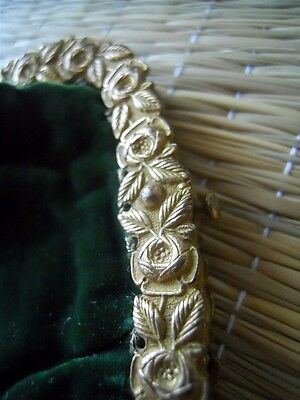 Antique French bourse purse velvet  and metallic embroidery  bronze 18th-century