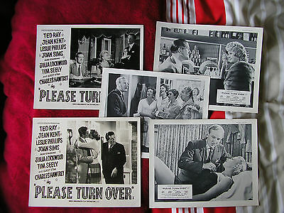 "PLEASE TURN OVER 1959 Film Comedy - 5 Original British 8""x10"" Front Of House"