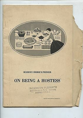Old 1955 Booklet Modern Bride's Primer on Being A Hostess