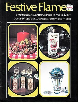 Vintage 1973 FESTIVE FLAMES CANDLE CRAFTING PATTERN BOOK BY ROYAL CRAFT LIBRARY