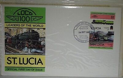 """""""LEADERS OF THE WORLD""""  St LUCIA STAMP OFFICIAL FIRST DAY COVER"""