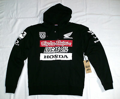 Troy Lee Designs Team Honda Racing Sweatshirt Kapuze Zip Hoodie Lucas Oil L NEU