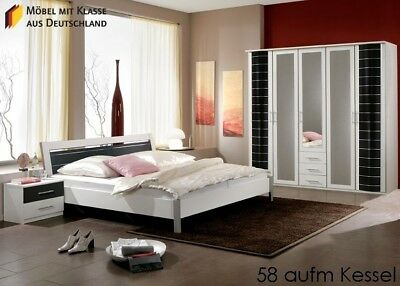 schlafzimmer komplett weiss eur 150 00 picclick de. Black Bedroom Furniture Sets. Home Design Ideas
