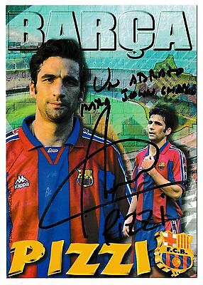 Fc Barcelona 1996-97 Official Football Postcard Signed By Juan Antonio Pizzi