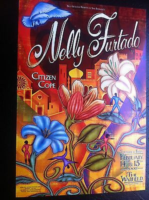 Nelly Furtado Citizen Cope Warfield Bill Graham Presents BGP Concert Tour Poster