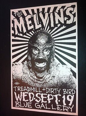 Melvins Dirty Bird Rare Mike King Portland Punk Flyer Concert Tour Gig Poster