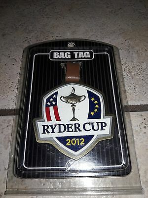 Brand New Sealed 2012 Ryder Cup Bag Tag Shield Usa