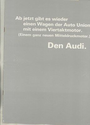 1966 Audi Auto Union Prestige Brochure German DKW F102 ww3558
