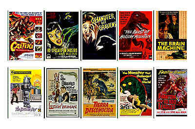 1950's SCIENCE FICTION & B-MOVIES - MOVIE POSTER POSTCARDS SET 6