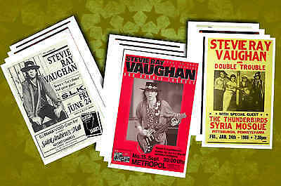 STEVIE RAY VAUGHAN -  POSTCARD SET # 1 - concert posters, promos etc - NEW