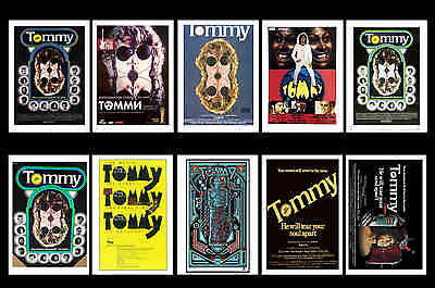 The Who - Tommy -  Movie Poster Postcards Set