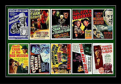 Charlie Chan Films -  Movie Poster Postcards Set 3