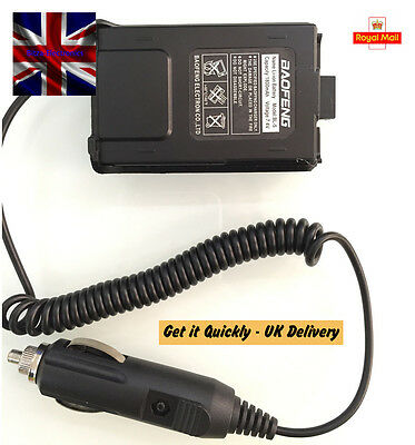 Car Battery Eliminator 12V for Radio Baofeng UV 5R 5RA 5RE UK Seller