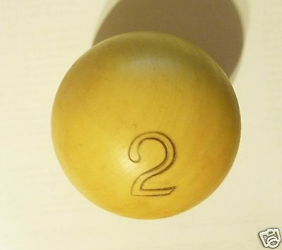 Vintage Antique  Billiard Russian Piramida Bakelite Ball Nr.2.