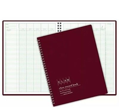Elan Publishing Class Record Book for 9-10 Weeks. 50 Names R1010