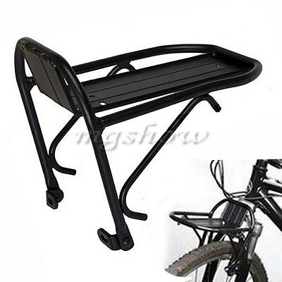 MTB Front/Rear Mini Alloy Pannier Rack Carrier Brake Fit Cycle Bike Luggage Bag