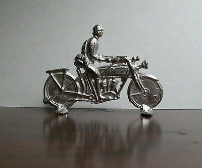 WW1 German Soldier on Motorbike?-With Rifle - Lead Soldier - From Vintage Mold