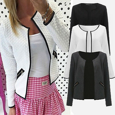 Women Long Sleeve Business Suit Jacket Blazer Slim OL Coat Casual Outwear Tops