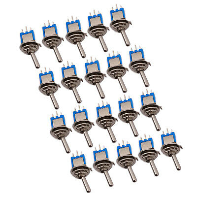 US Stock 20pcs Blue Mini SPDT Guitar Toggle Switch ON-ON DIY SMTS-102