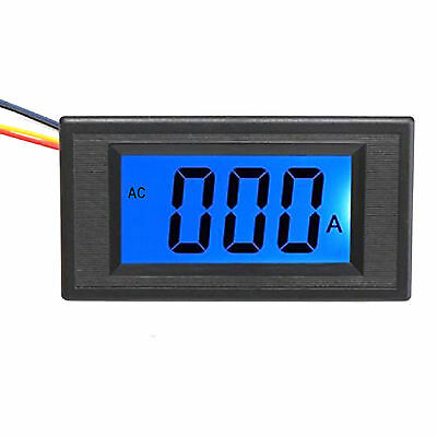 New Blue LCD Digital AMP Current Panel Meter Ammeter AC 0~5A