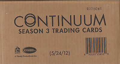 Continuum Season 3 - One Factory Sealed Case (has 12 Factory Sealed Boxes)