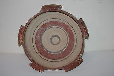 QUALITY RARE ANCIENT GREEK POTTERY PLATE 4th CENTURY BC TERRACOTTA