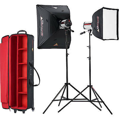 Photoflex SKSF1502MXTB StarFlash 300w/s Soft Box Kit studio flash kit 2 Heads