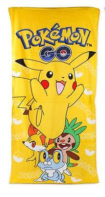 New 120*60cm yellow Kids Pokemon go towels Children's pink beach towel gifts