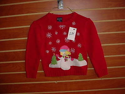 D-34 Unisex YOUTH Kids Ugly Christmas Sweater Size 5/6  Holiday X-Mas PARTY