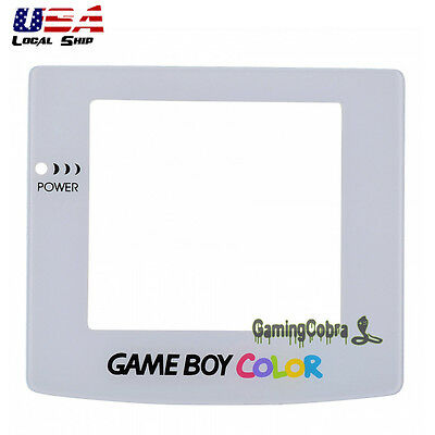 Rigid Lens Screen Protector Replacement for Nintendo GameBoy Color GBC White