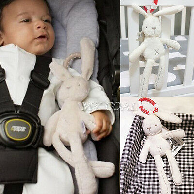 Baby Infant Bed Stroller Hanging Rattle Plush Musical Rabbit Development Toy