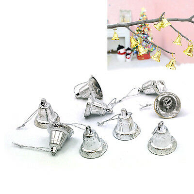 9PCS Plastic Golden/silver Xmas Christmas Decor Opening Bell Party Ornament New