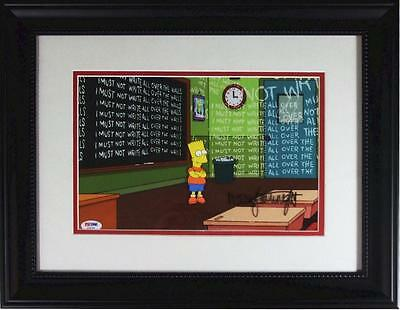 Signed Nancy Cartwright production cel Bart The Simpsons PSA/DNA authenticated