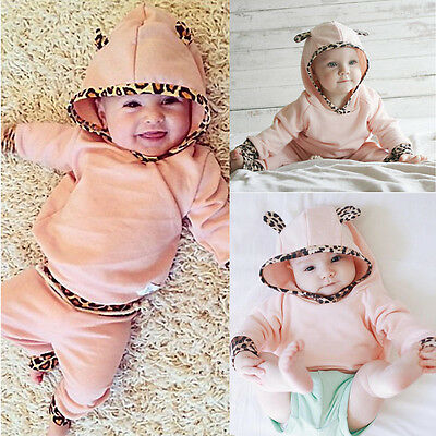 Baby Kids Suit Set Pullover Trousers Jogging Suit Hoodie Girl 62 68 74 80