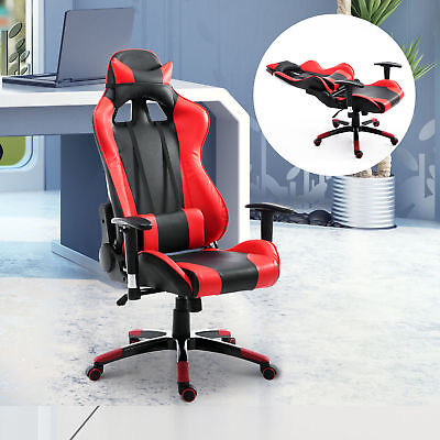 HOMCOM PU Office Chair Race Car Style High-back Ergonomic Gaming Swivel Seat