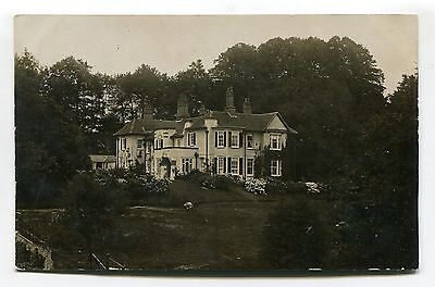 Hungerford area? - unknown large house - 1905 used real photo postcard