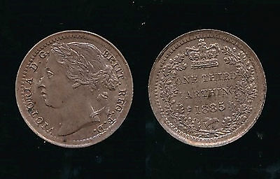 1885 Victoria...THIRD FARTHING..Lustre....Fast Post