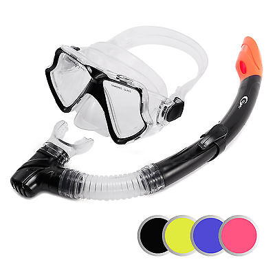 Adult Snorkel Combo Mask And Snorkel Set Snorkelling Diving Holiday NEW