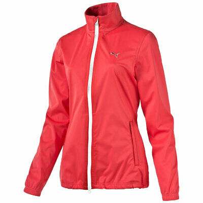 Puma W Rain Jacket Damen Golf Jacke zipper Storm Cell rot