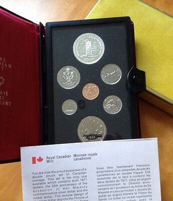 1977 Royal Canadian Mint Part Silver 7 Coin Set