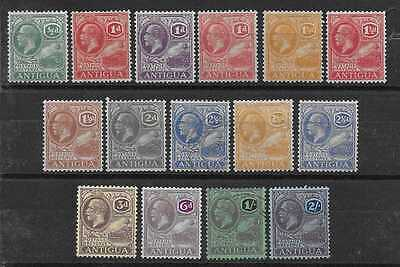 Antigua  Sg 62/76  1921/9 Wmk Mult Script Set To 2/-  Fresh Mounted Mint Mainly