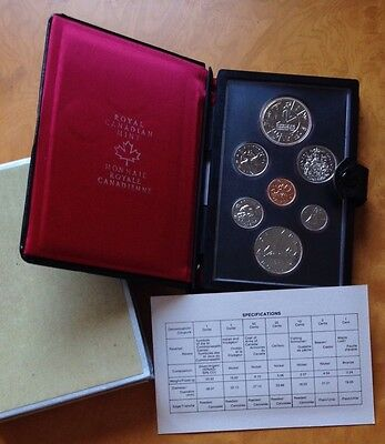 1978 Royal Canadian Mint Part Silver 7 Coin Set