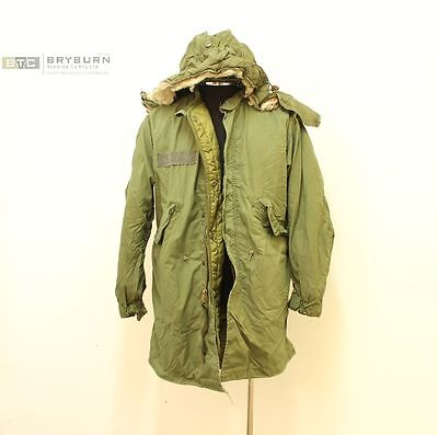 US M65 Fishtail Parka with Liner & Hood- Genuine US Issue -Extra Small - Regular