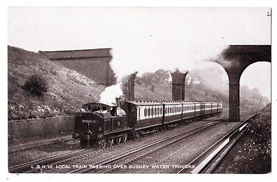 Early Postcard,Hertfordshire,Watford, Train Passing Over Bushey Water Troughs
