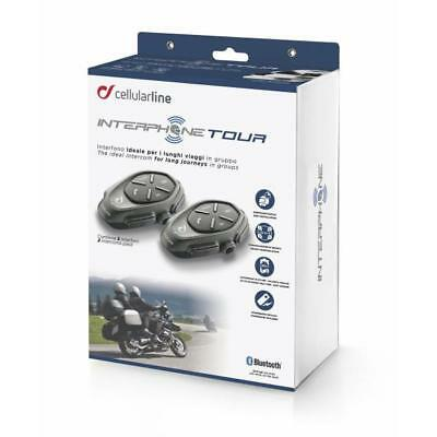 XAUF Tour twin pack Interphone Cellularline Headset Intercom