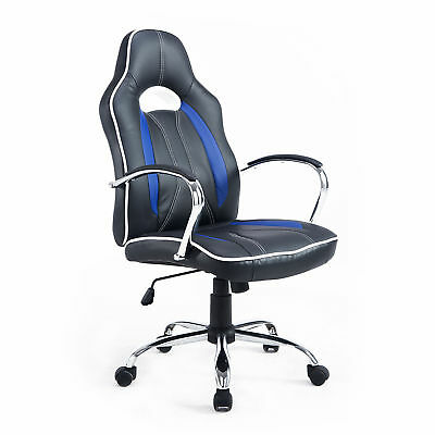 360° Rotating Gaming Office Chair Racing Style W/ High Back Adjustable