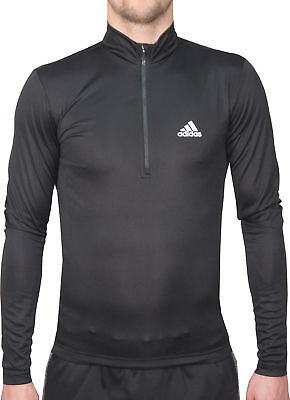 adidas Questar Mens Long Sleeve Cycling Jersey - Black